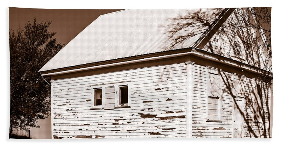 Rural School Hand Towel featuring the photograph Golden Hill School 1860 - 1958 by Edward Peterson