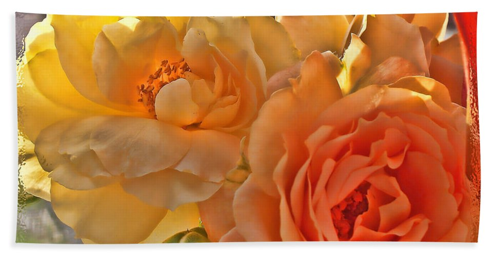 Nature Hand Towel featuring the photograph Golden Light by Debbie Portwood