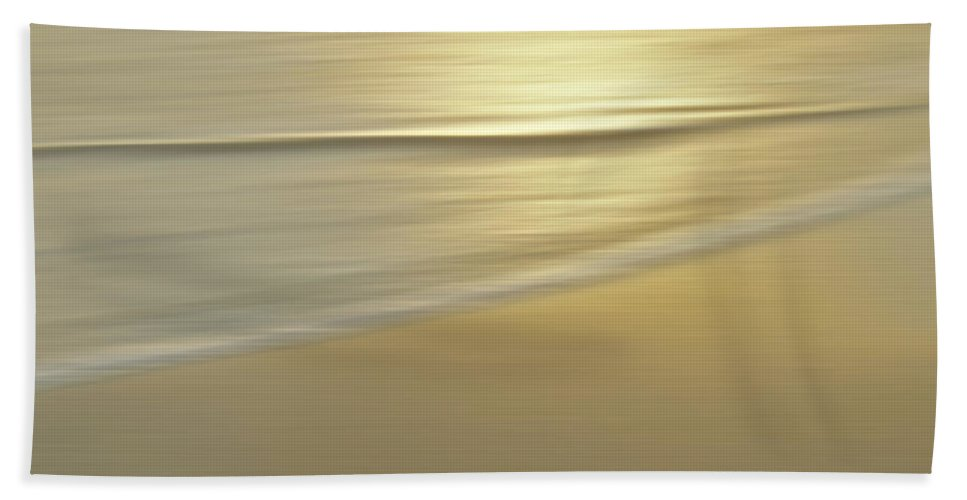 Abstract Bath Sheet featuring the photograph Golden Moment by Michael Peychich