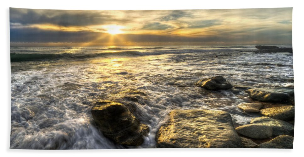Clouds Bath Sheet featuring the photograph Golden Nuggets by Debra and Dave Vanderlaan