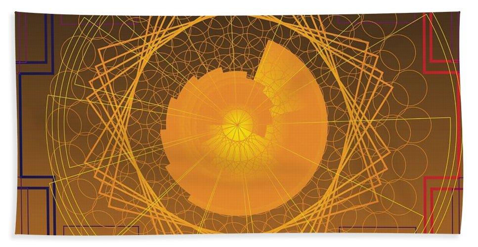 Digital Bath Sheet featuring the digital art Golden Ratio 2012 by Kathryn Strick