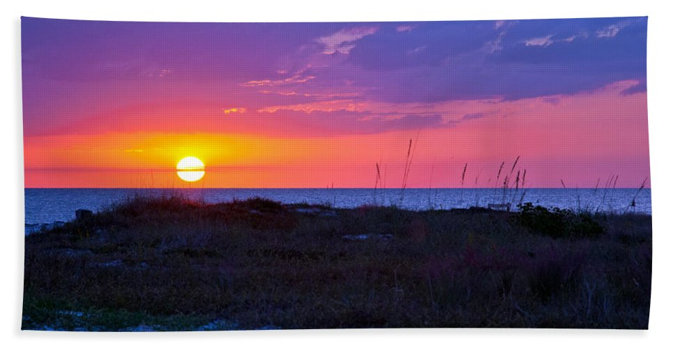 Sunset Hand Towel featuring the photograph Golden Sun by Stephen Whalen