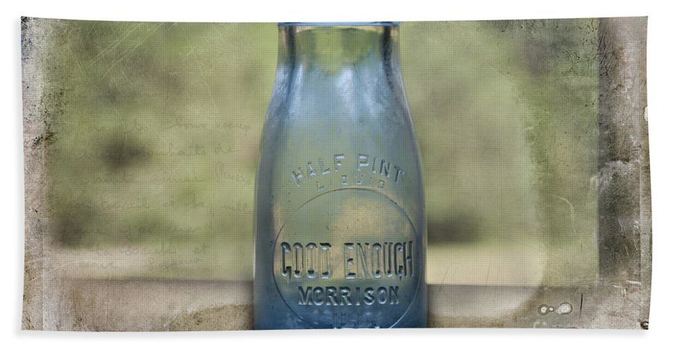 Milk Bottle Hand Towel featuring the photograph Good Enough by David Arment
