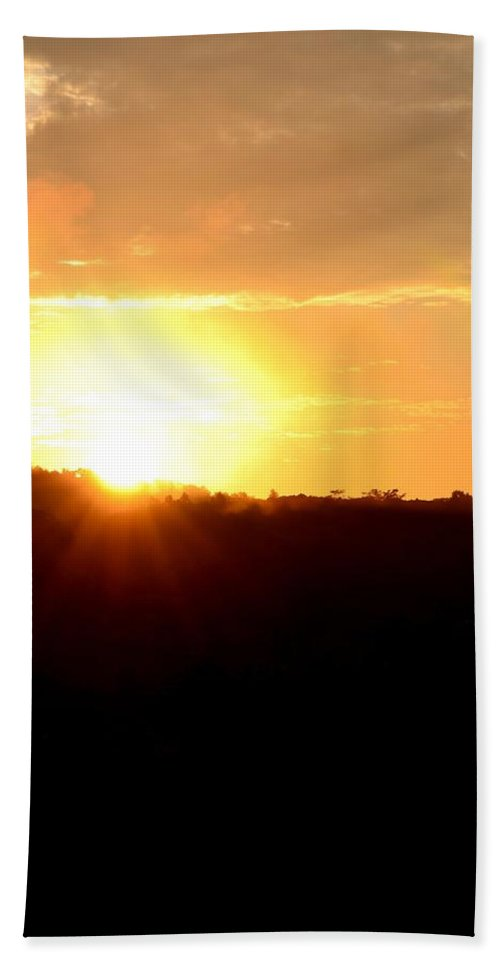 Morning Bath Sheet featuring the photograph Good Morning Holy Spirit by Maria Urso