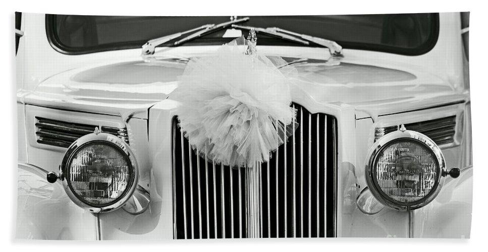 Car Bath Sheet featuring the photograph Got Married Bw by Aimelle