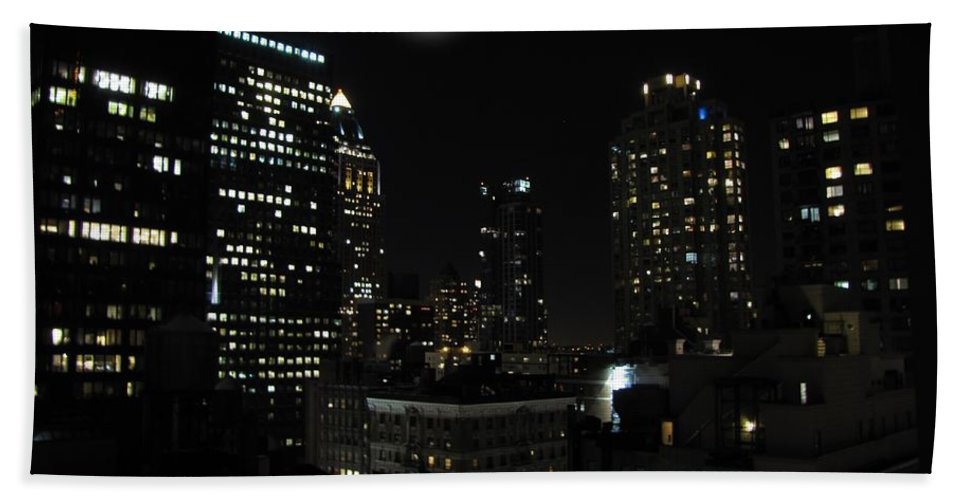 New York Bath Towel featuring the photograph Gotham City by David Dehner