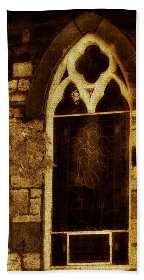 Architecture Hand Towel featuring the photograph Gothic Window by Chris Berry
