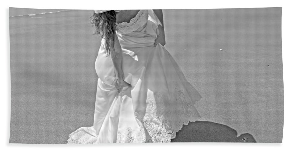 Topsail Bath Towel featuring the photograph Gown Gathering by Betsy Knapp
