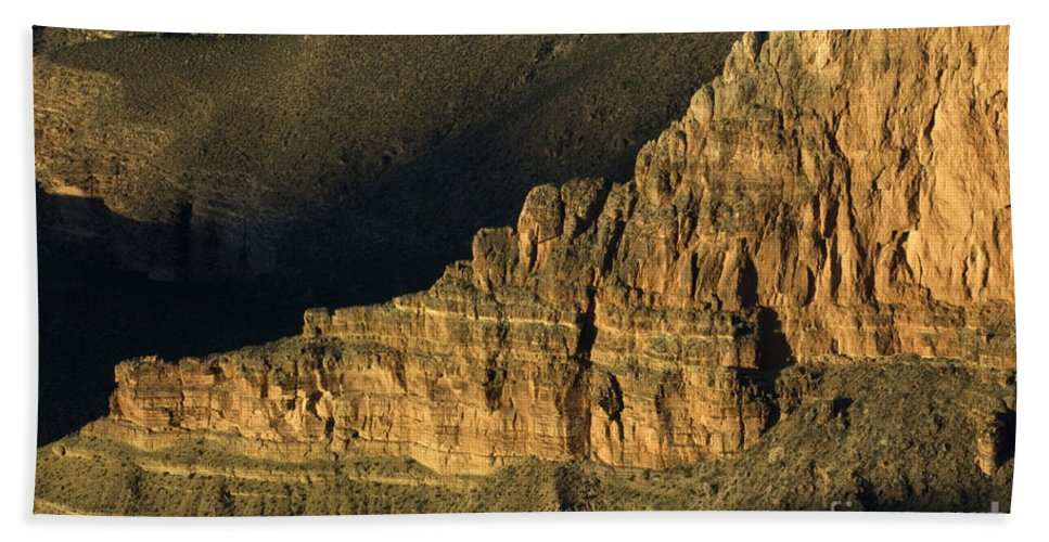Grand Canyon Bath Sheet featuring the photograph Grand Canyon Bathed In Light by Bob Christopher