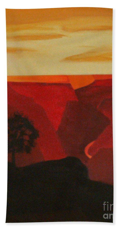 Grand Canyon Contemporary 1 Bath Sheet featuring the painting Grand Canyon Contemporary 1 by Don Monahan