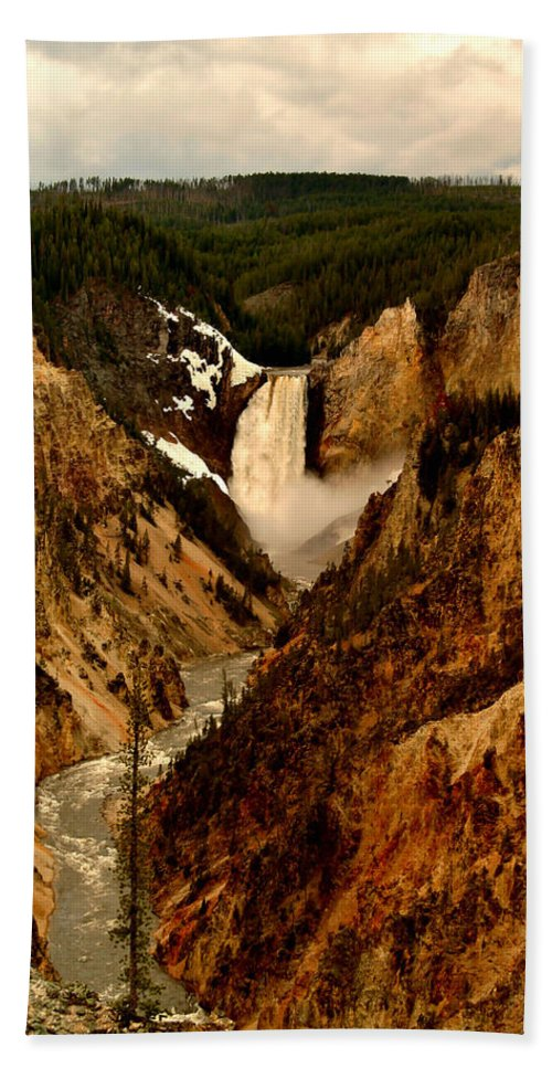 Canyon Bath Sheet featuring the photograph Grand Canyon Of The Yellowstone by Ellen Heaverlo