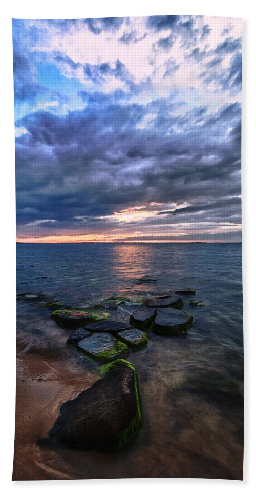 Sunset Bath Sheet featuring the photograph Great South Bay by Rick Berk