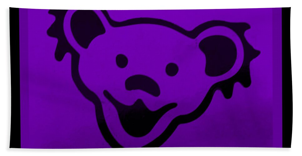 Greatful Dead Hand Towel featuring the photograph Greatful Dead Dancing Bear In Purple by Rob Hans