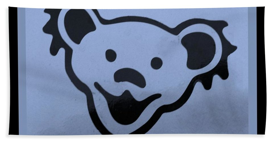 Greatful Dead Hand Towel featuring the photograph Greatful Dead Dancing Bears In Cyan by Rob Hans