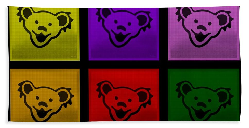 Greatful Dead Hand Towel featuring the photograph Greatful Dead Dancing Bears In Multi Colors by Rob Hans