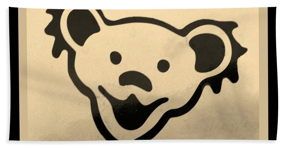 Greatful Dead Hand Towel featuring the photograph Greatful Dead Dancing Bears In Sepia by Rob Hans