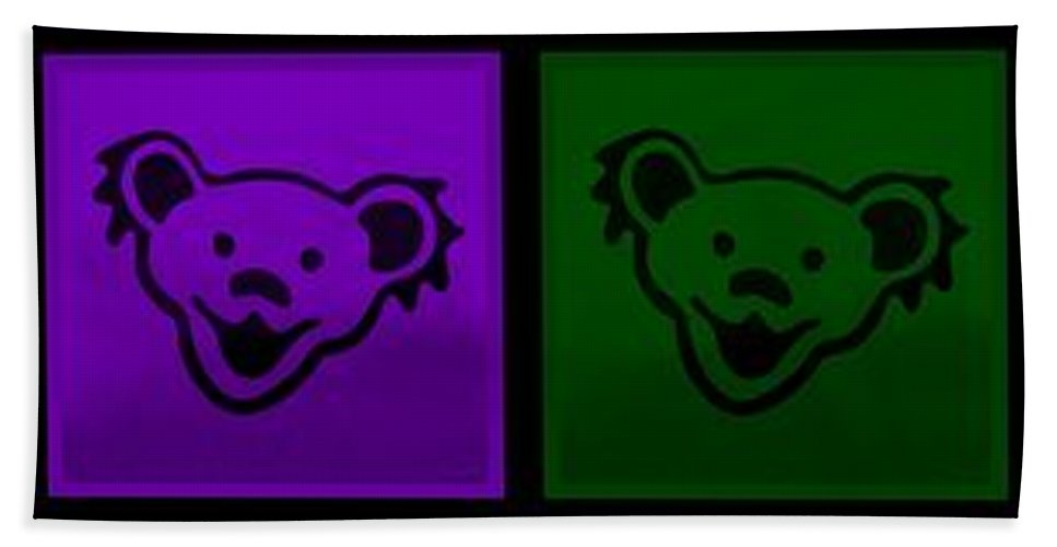 Greatful Dead Hand Towel featuring the photograph Greatul Dead Dancing Bears In Muti Colors by Rob Hans
