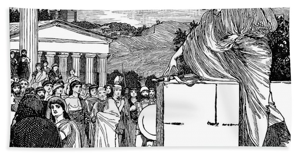 4th Century B.c Bath Sheet featuring the photograph Greek Assembly by Granger