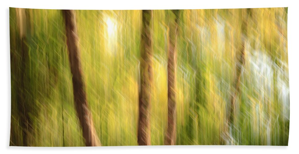 Abstract Hand Towel featuring the photograph Green And Gold by Keith Allen