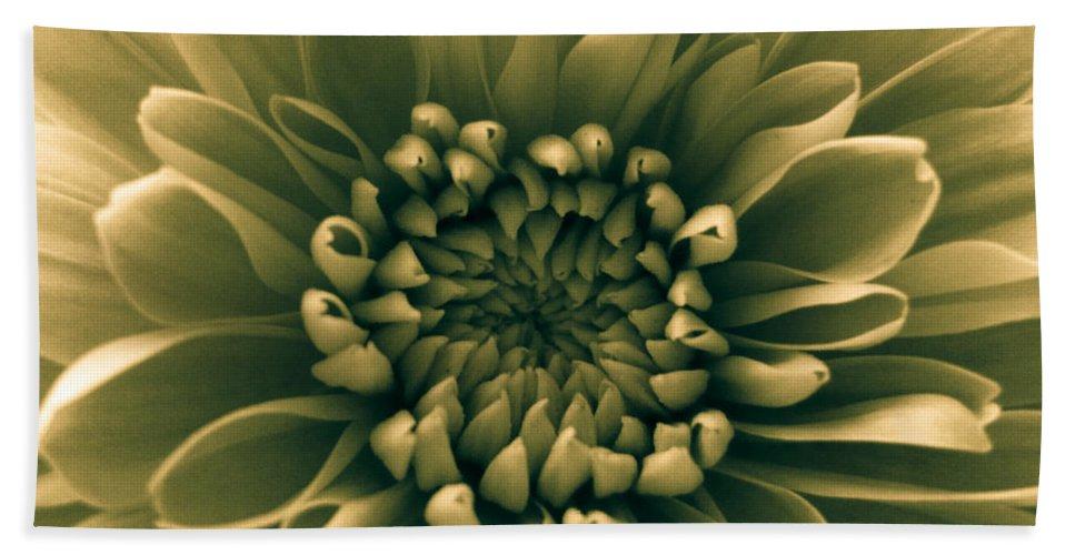 Green Flower Bath Sheet featuring the photograph Green Flower by Dawn OConnor