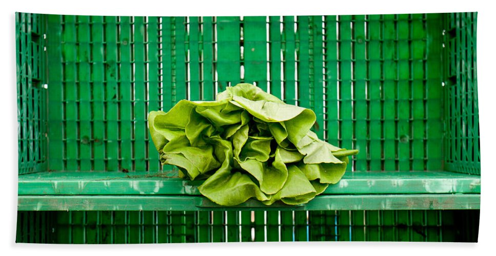 Lettuce Bath Sheet featuring the photograph Green Greens by Lauri Novak