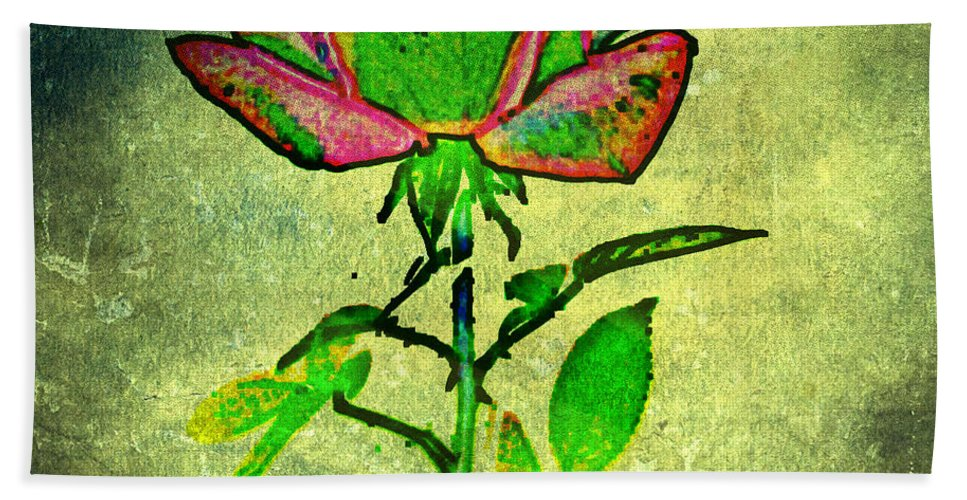 Flower Hand Towel featuring the photograph Green Rose by Leslie Revels