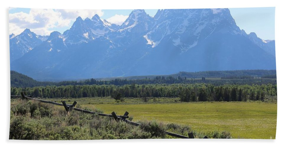 Tetons Bath Sheet featuring the photograph Grizzly Country by Carol Groenen