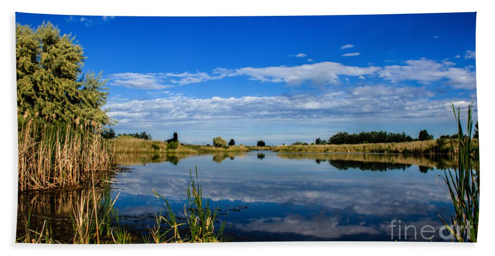 Pond Bath Sheet featuring the photograph Ground Level by Robert Bales
