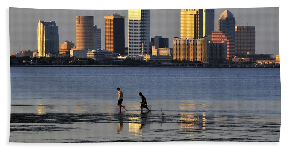 Fine Art Photography Bath Sheet featuring the photograph Growing Up Tampa Bay by David Lee Thompson