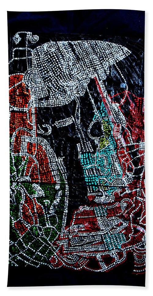 Jesus Hand Towel featuring the painting Guardian Knight Of The Orient by Gloria Ssali