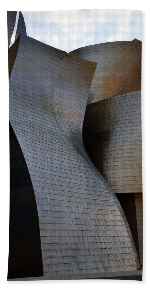 Guggenheim Bath Sheet featuring the photograph Guggenheim Museum Bilbao - 1 by RicardMN Photography