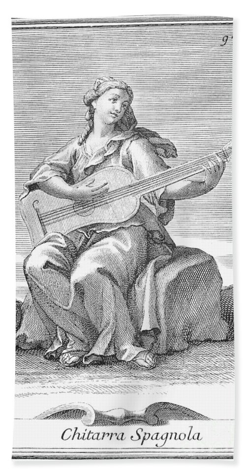 1723 Bath Sheet featuring the photograph Guitar, 1723 by Granger