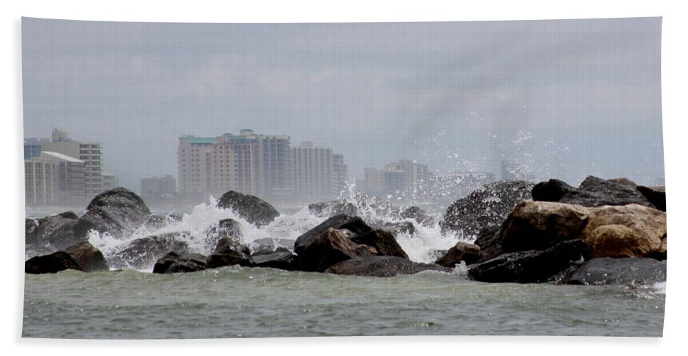 Gulf Of Mexico Bath Sheet featuring the photograph Gulf Of Mexico - More Waves by Travis Truelove