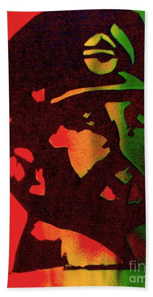 Hip Hop Bath Sheet featuring the painting Haile Selassie by Tony B Conscious
