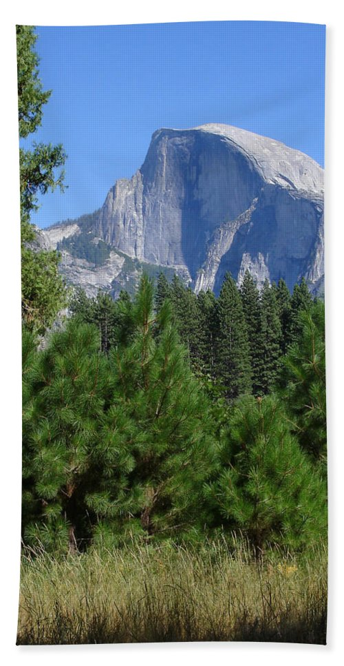 Yosemite Hand Towel featuring the photograph Half Dome by Cyndi Combs