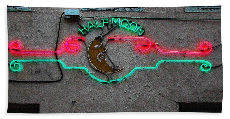 Moon Bath Sheet featuring the photograph Half Moon Bar New Orleans by Kathleen K Parker