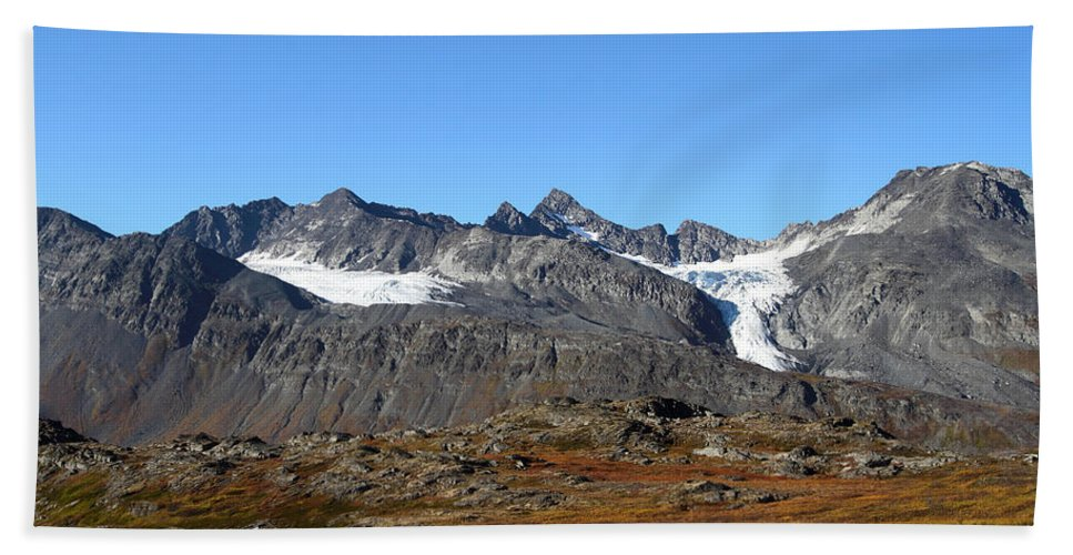 Doug Lloyd Hand Towel featuring the photograph Hanging Glacier by Doug Lloyd