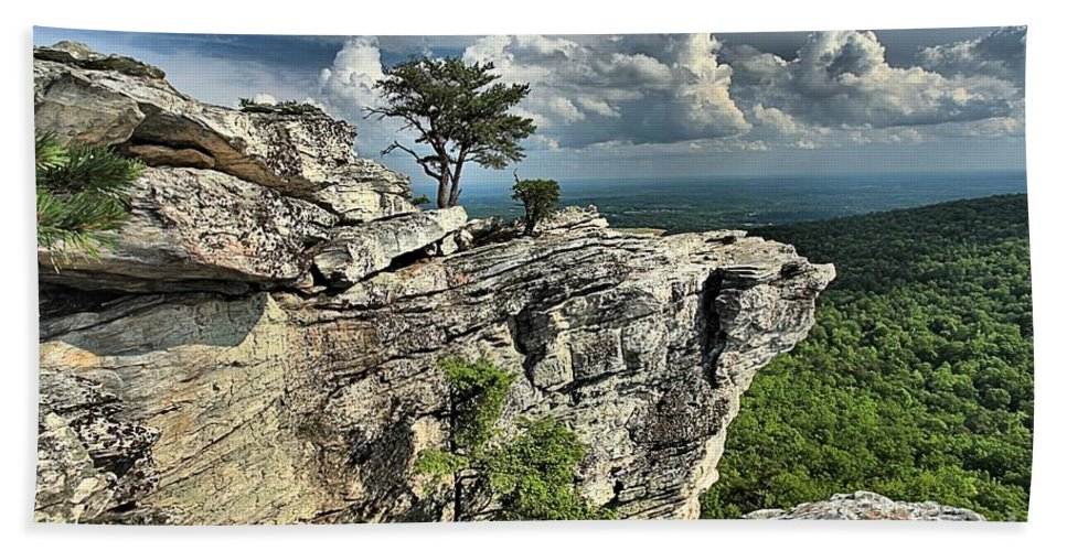 Hanging Rock State Park Hand Towel featuring the photograph Hanging In North Carolina by Adam Jewell