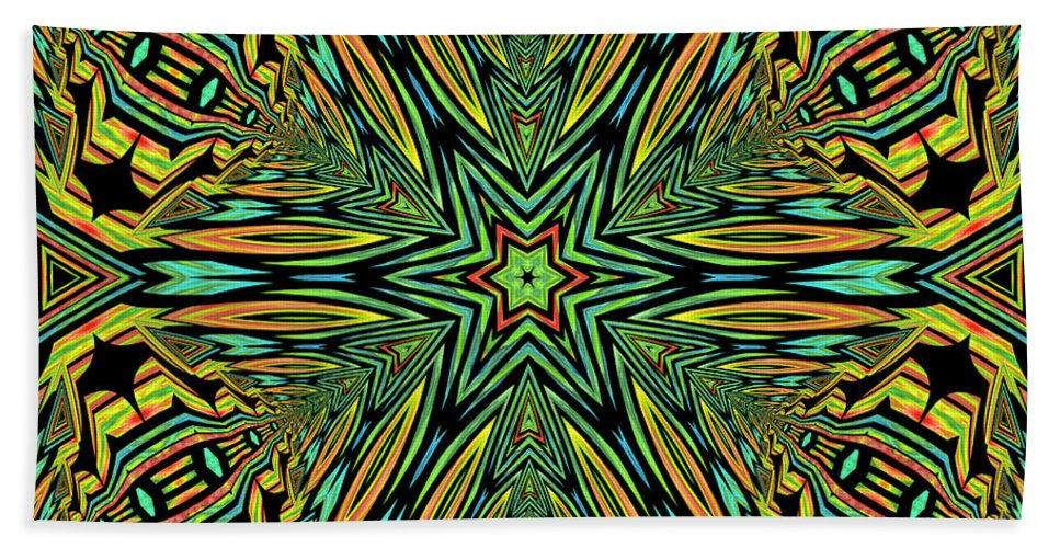 Abstract Bath Sheet featuring the digital art Happiness by Georgiana Romanovna
