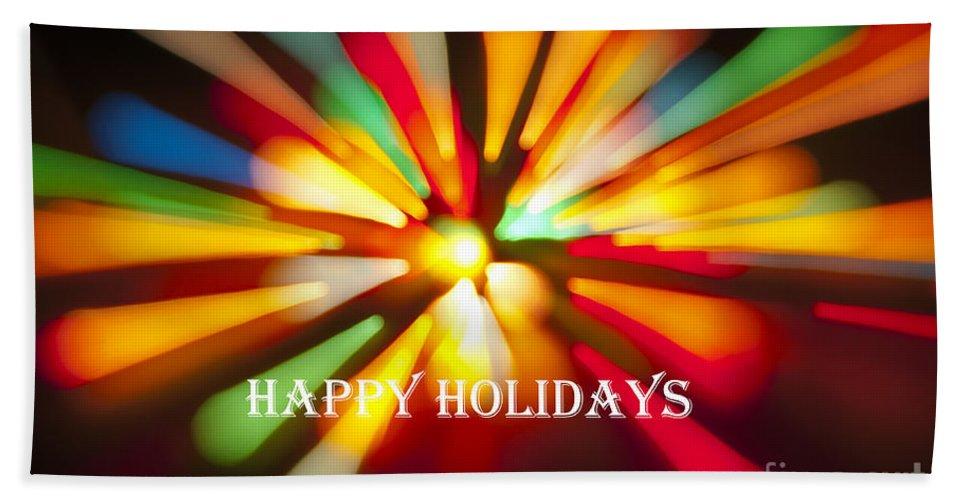 Happy Holidays Hand Towel featuring the photograph Happy Holidays Card by Glenn Gordon