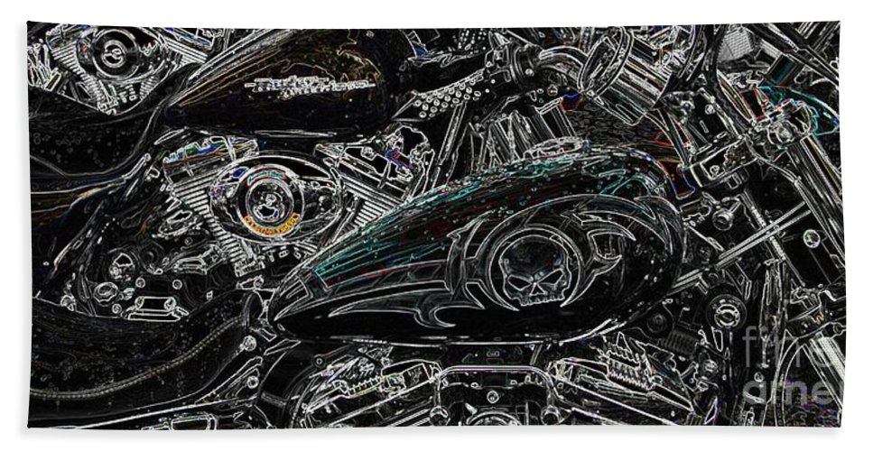 Harley Davidson Bath Sheet featuring the photograph Harley Davidson Style 2 by Anthony Wilkening