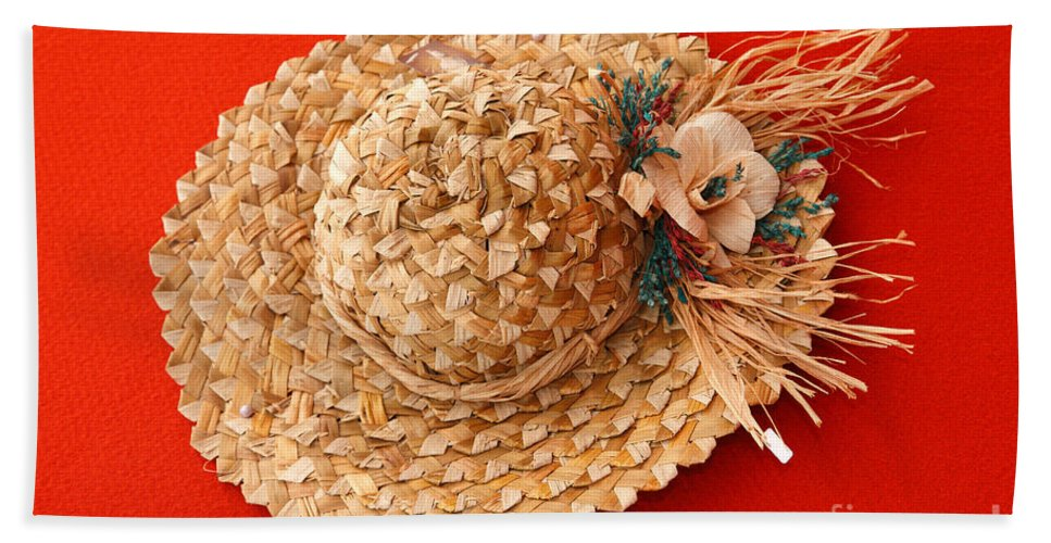 Hat Bath Sheet featuring the photograph Hat by Gaspar Avila