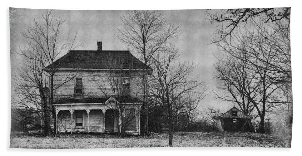 Haunted House Bath Sheet featuring the photograph Haunted by David Arment