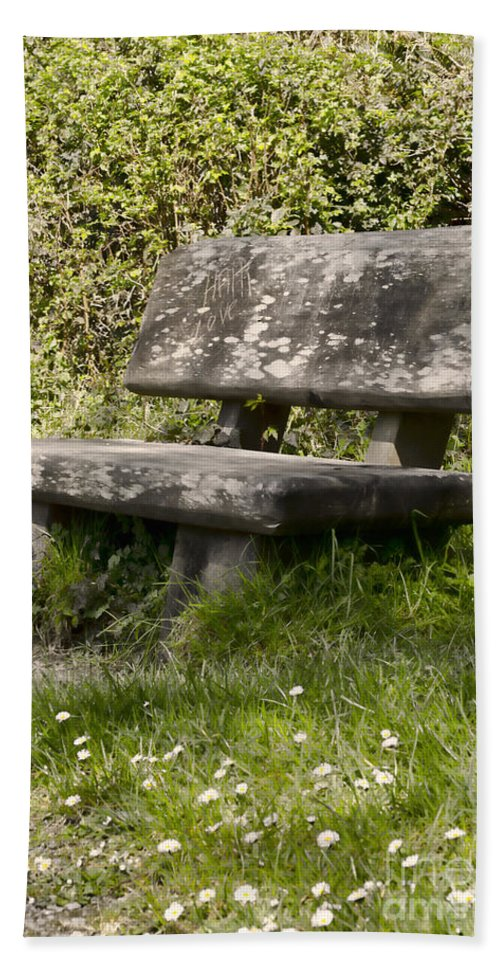 Stone Hand Towel featuring the photograph Have A Seat by Heather Applegate
