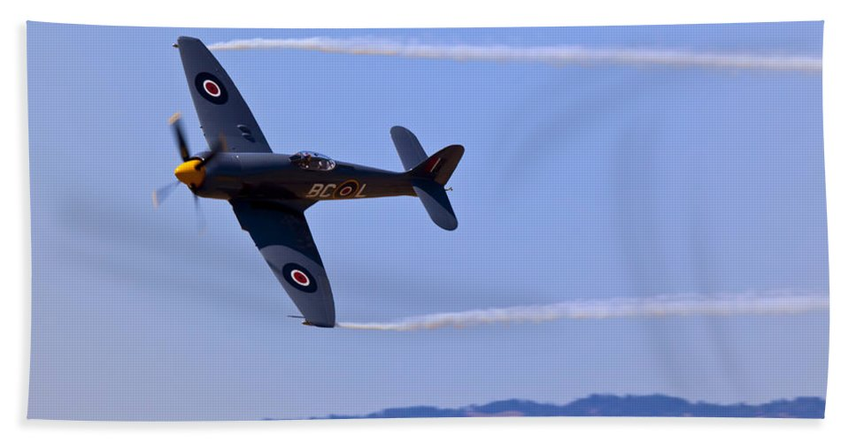 Hawker Sea Fury Hand Towel featuring the photograph Hawker Sea Fury by Garry Gay