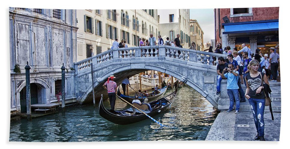 Venice Bath Sheet featuring the photograph Heart In Venice by Madeline Ellis