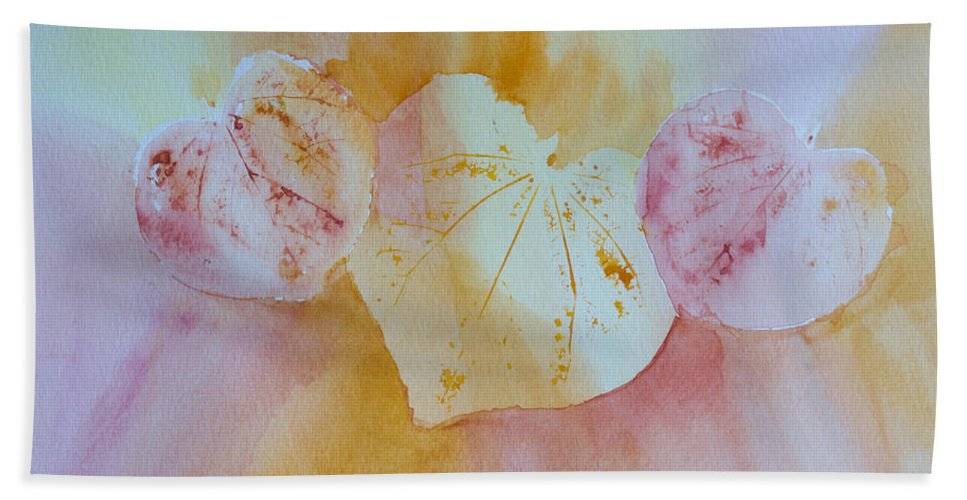 Hearts Hand Towel featuring the painting Heart Trio by Heidi Smith