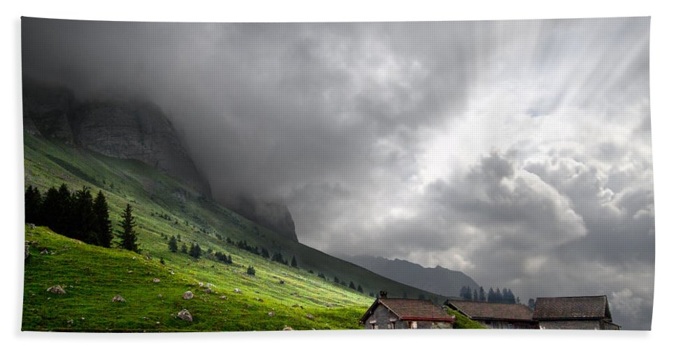 Austria Bath Sheet featuring the photograph Heaven's Gate by Debra and Dave Vanderlaan