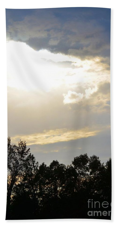 Heaven's Light 2 Hand Towel featuring the photograph Heaven's Light 2 by Maria Urso