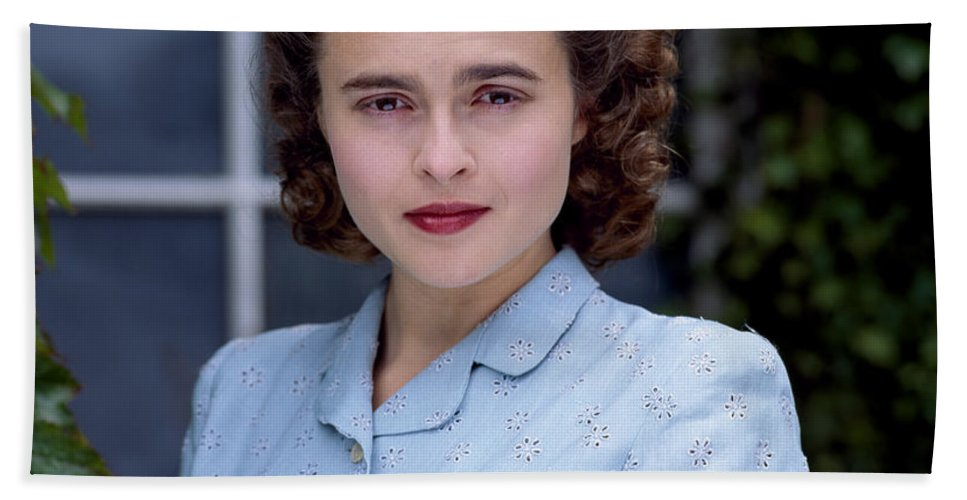 Helena Hand Towel featuring the photograph Helena Bonham Carter by Shaun Higson
